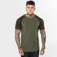 Khaki Speckle Level 1 Short Sleeve Raglan Tee