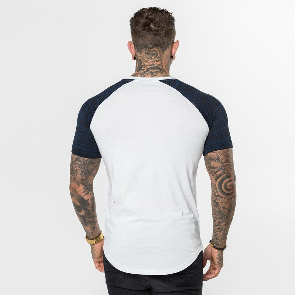 Level 1 Short Sleeve Raglan Tee in navy