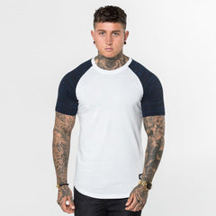 navy strobe Level 1 Short Sleeve Raglan Tee