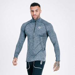 charcoal-black - machine fitness Exo-Knit Quarter Zip Pullover
