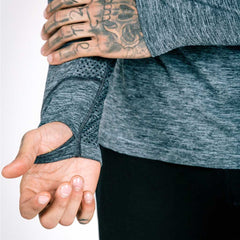 machine fitness Exo-Knit Quarter Zip Pullover - grey
