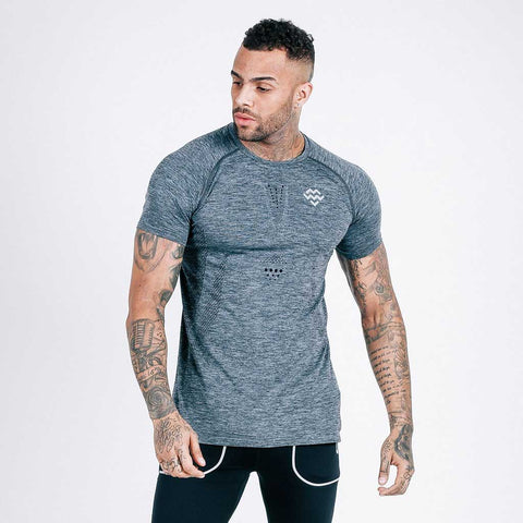 machine fitness Exo-Knit t shirt - charcoal-black