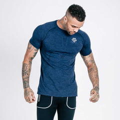 machine fitness Exo-Knit tshirt - navy