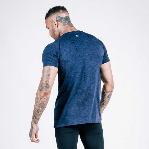 machine fitness Exo-Knit t shirt - navy
