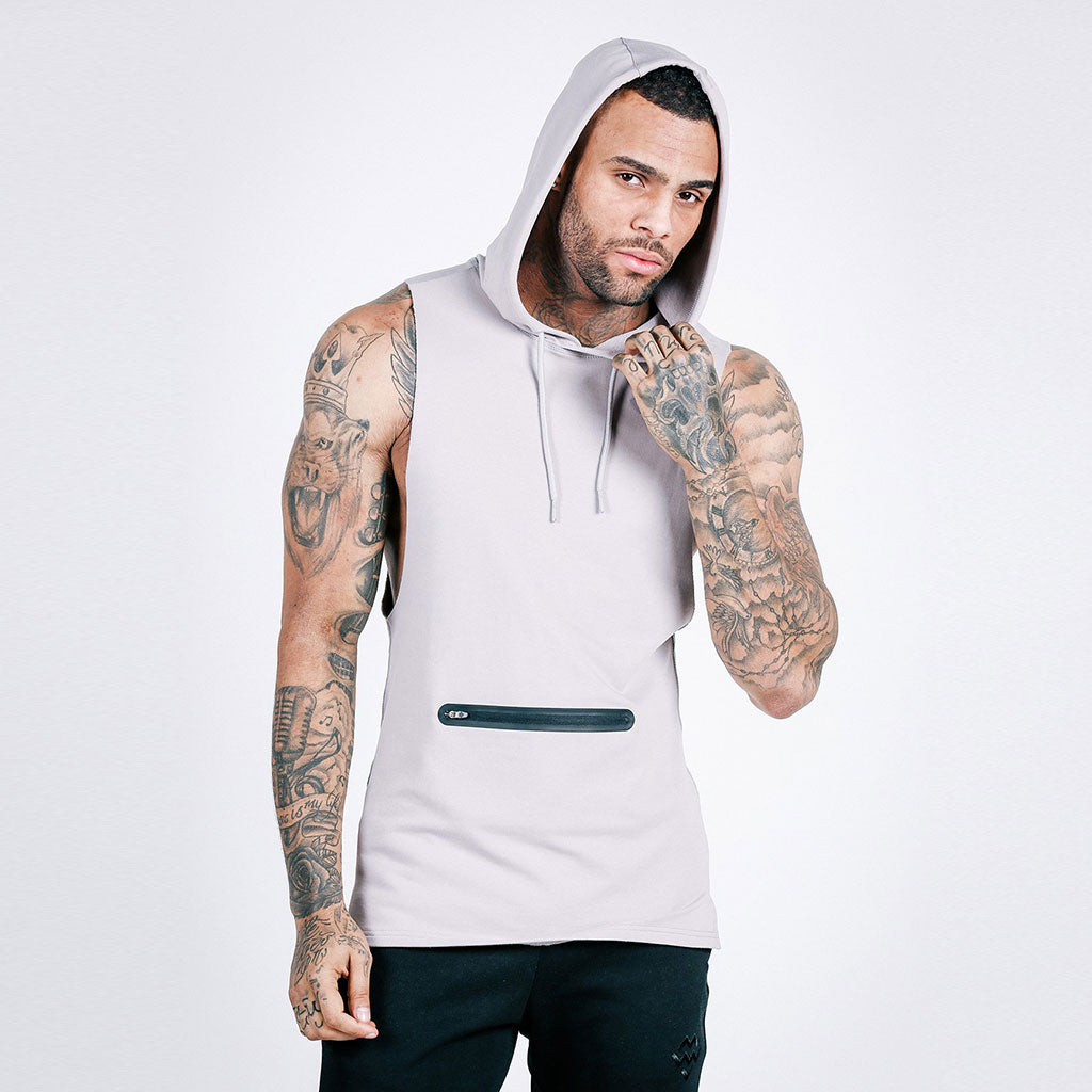 stone machine fitness Flow Cut-Off Hoodie