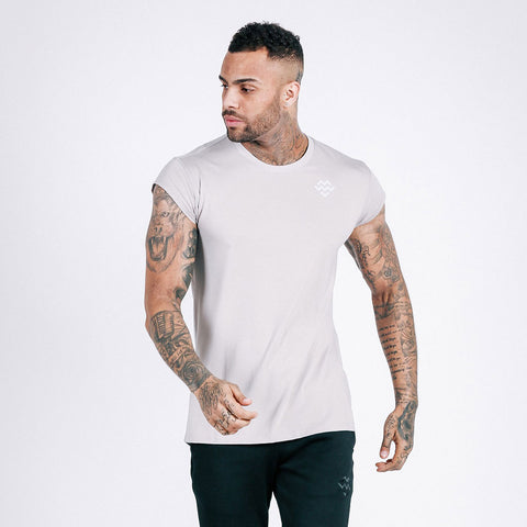 machine fitness Flow drop shoulder tee in stone