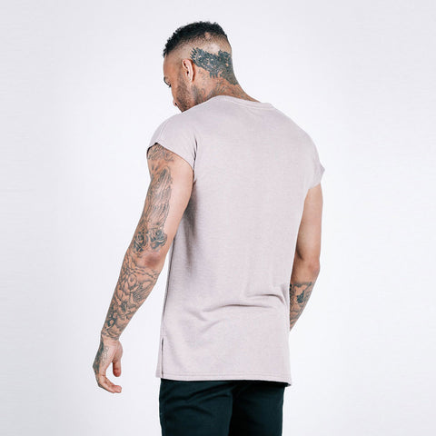 machine fitness flow oversized throwover tee mauve