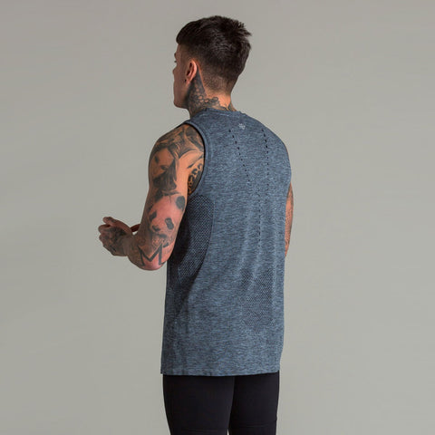 Machine Fitness Exo-Knit Tank Charocal