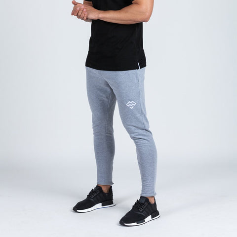 machine fitness Intensity Fitted Tapered Bottoms in marl grey