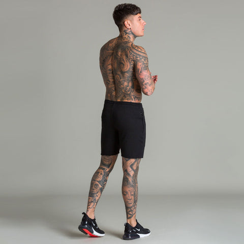 Machine Fitness Raw Cut Black Intensity Shorts