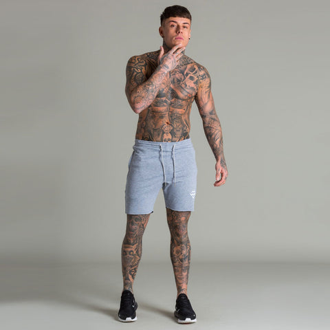 Machine Fitness Raw Cut Intensity Shorts Marl Grey
