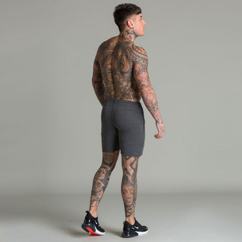 Machine Fitness Raw Cut Intensity Shorts Dark Grey