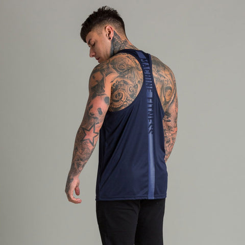 Machine Fitness Strike Stringer Vest Navy