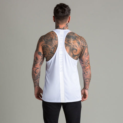 Machine Fitness Strike Stringer Vest White