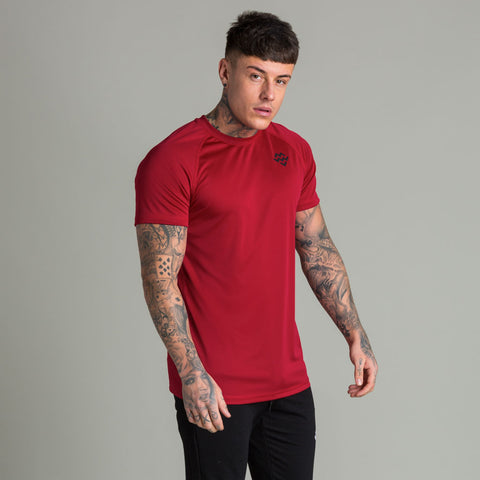 Machine Fitness Strike T Shirt Burgundy