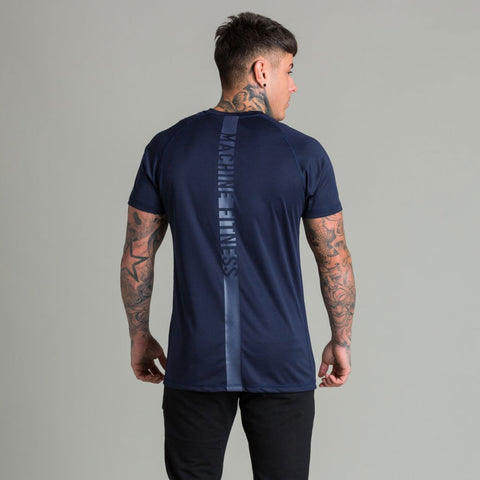Machine Fitness Strike T Shirt Navy