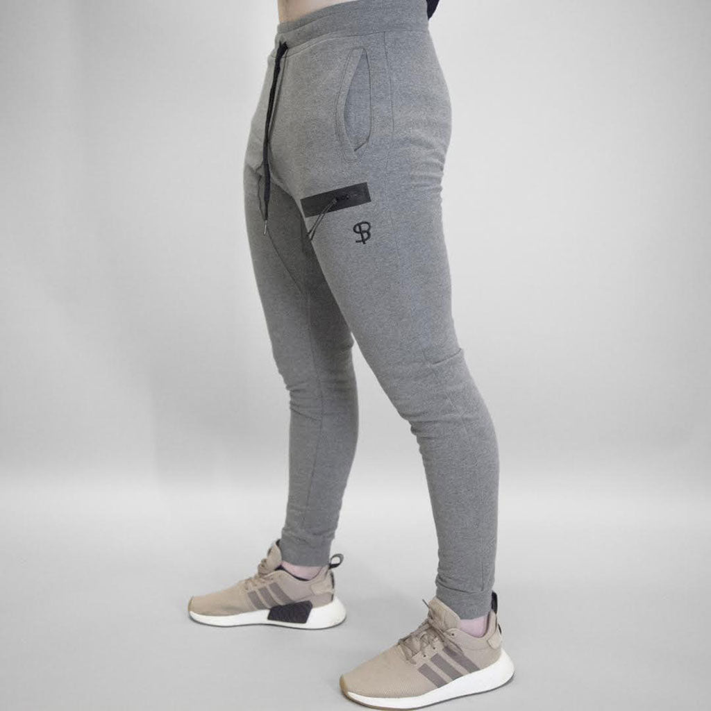 Sans Pareil Tech Joggers in Marl Grey