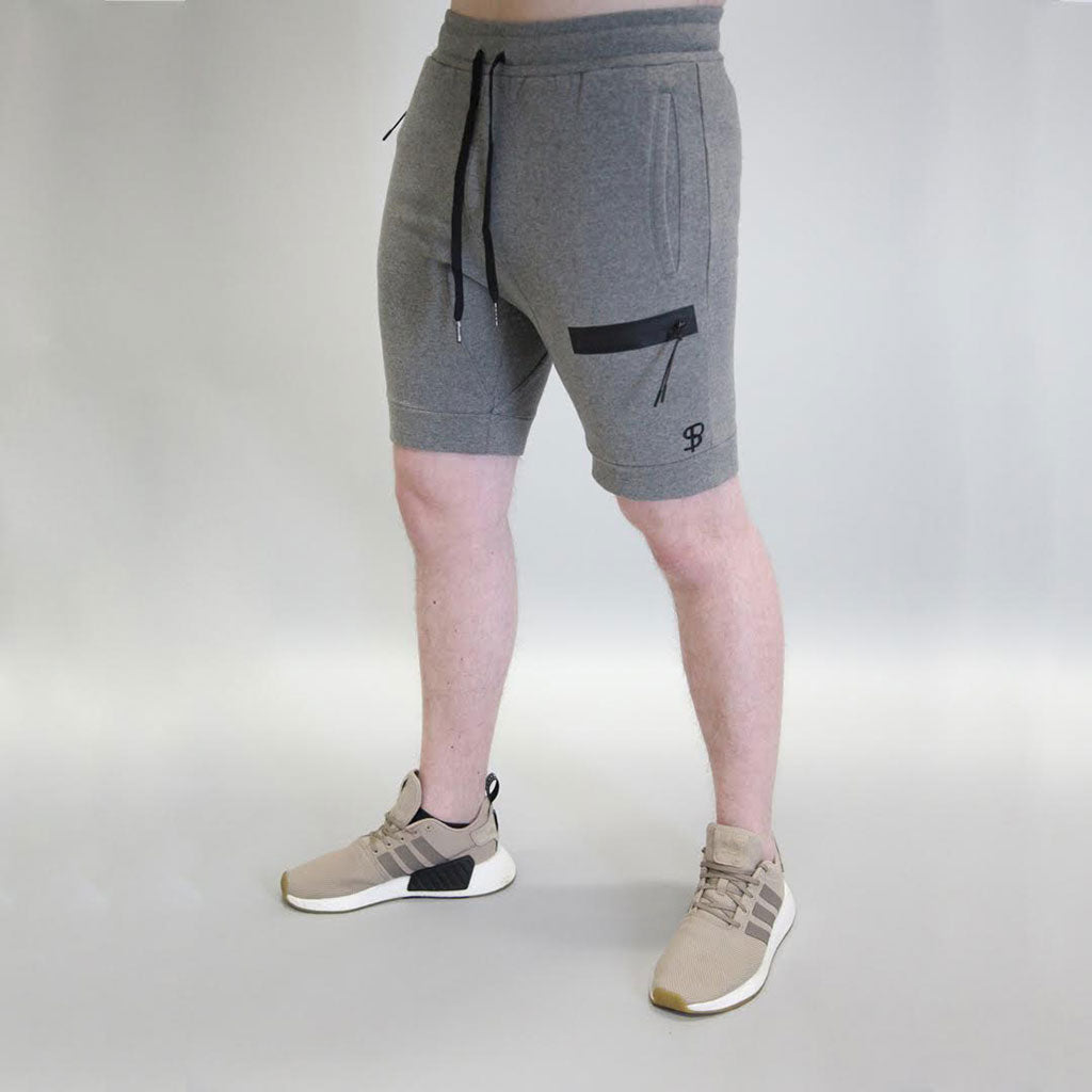 Sans Pareil Tech Joggers Shorts in Marl Grey
