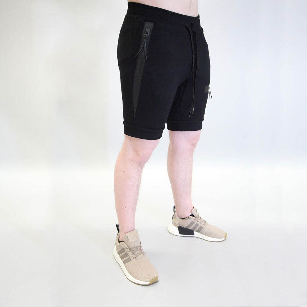 Sans Pareil Tech Joggers Shorts in Onyx