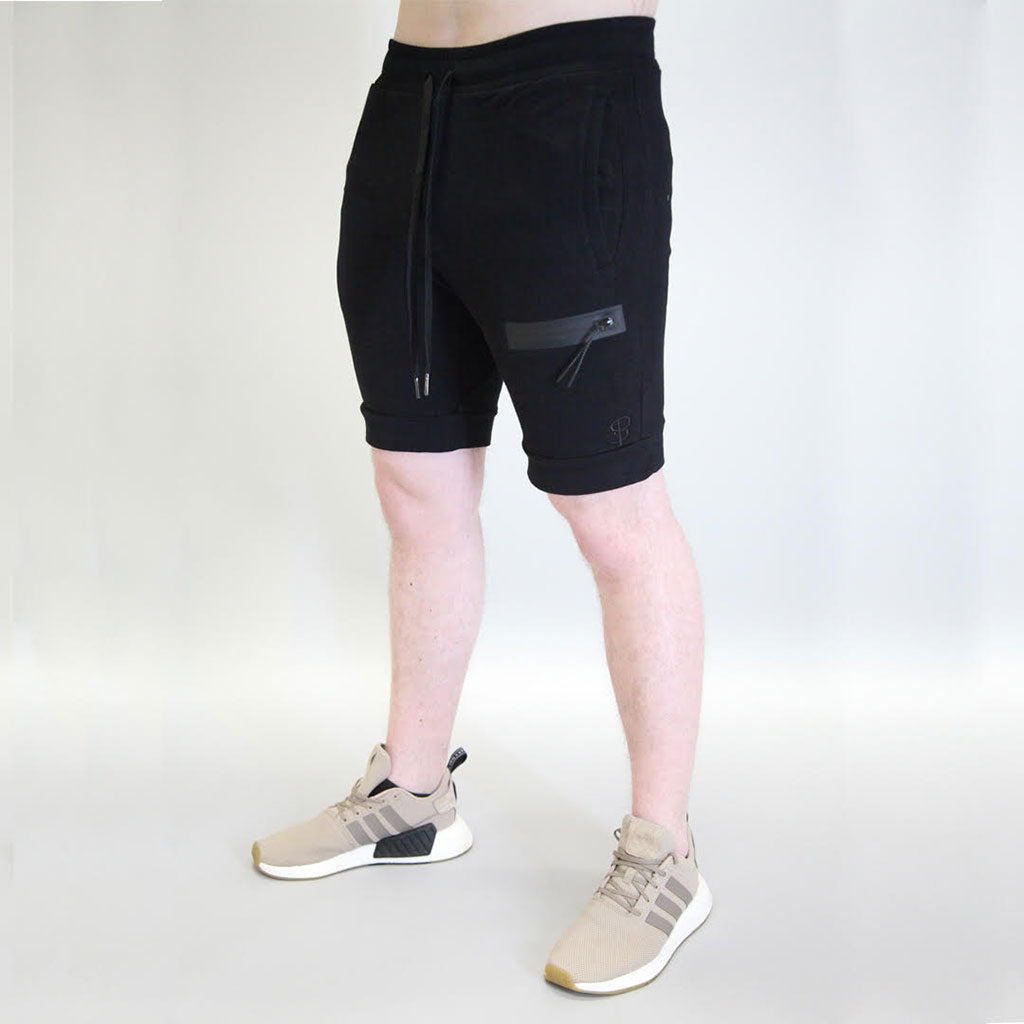 Sans Pareil Tech Joggers Shorts in Onyx Black