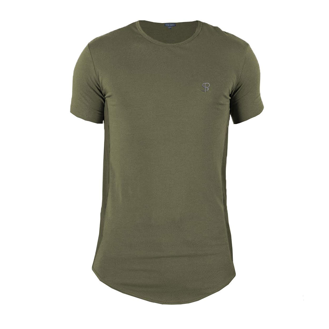 Olive Sans Pareil Tech Side Panel Tee