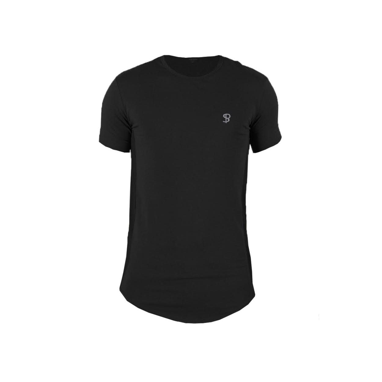 Sans Pareil Tech Side Panel Tee in Black