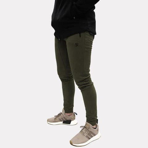 Sans Pareil Light Fleece Joggers in Khaki