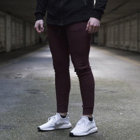 Maroon Sans Pareil Light Fleece Joggers
