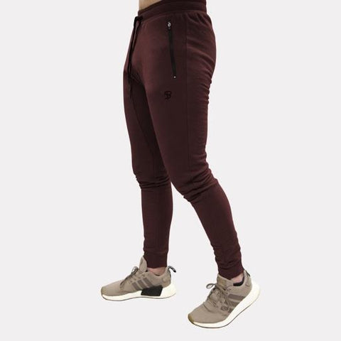 Sans Pareil Light Fleece Joggers in Maroon