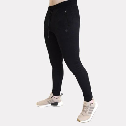 Sans Pareil Light Fleece Joggers in Onyx Black