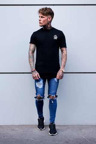 Destroyed Jeans - Dark Blue