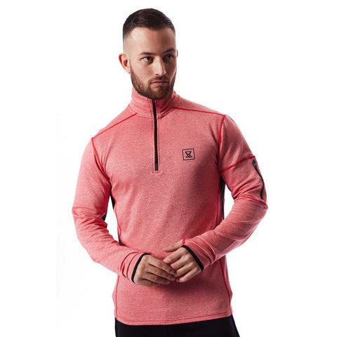 Tech Quarter Zip Pullover - Pastel Salmon