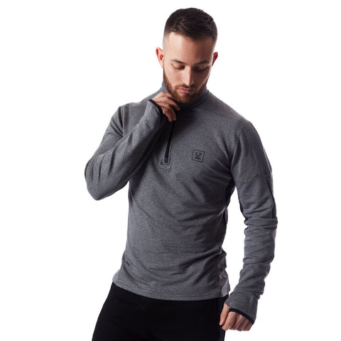Tech Quarter Zip Pullover - Charcoal