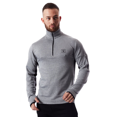 Tech Quarter Zip Pullover - Grey
