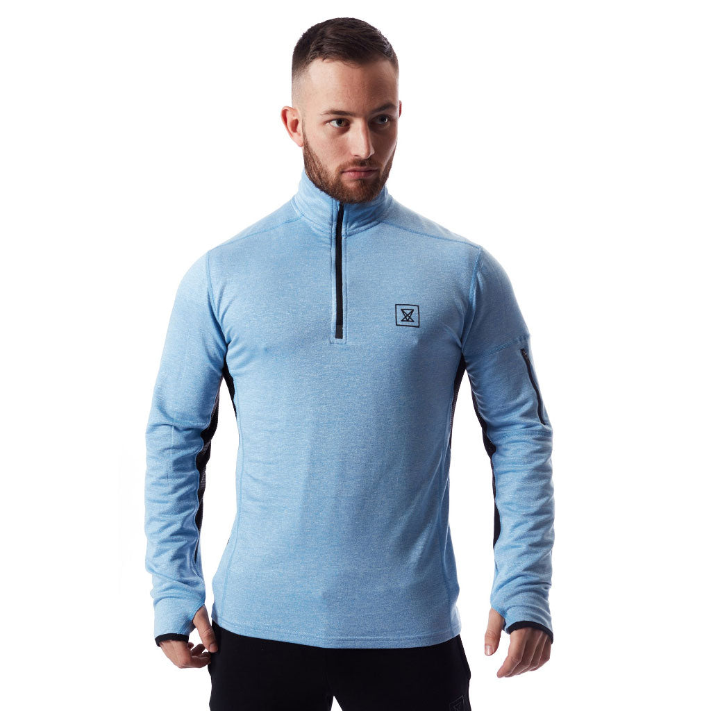 Tech Quarter Zip Pullover - Pastel Blue