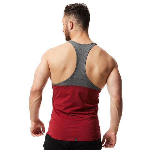 vxs gym wear Core Stringer red and grey