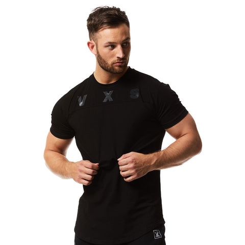 vxs gym wear fusion tshirt blackout special edition