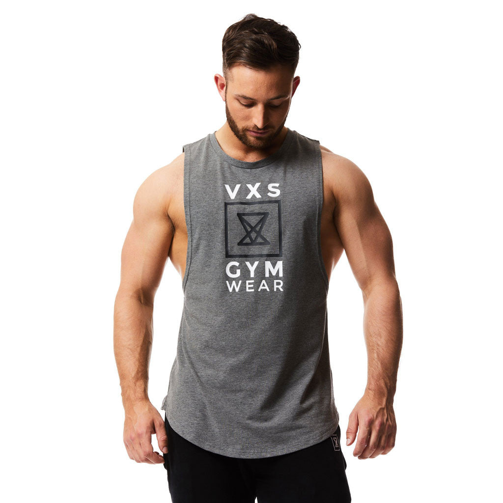 ca45c29648b29 VXS Gym Wear - Sleeveless Tee - Charcoal – Muscle and Style