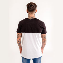 iiwii striped tee black-white