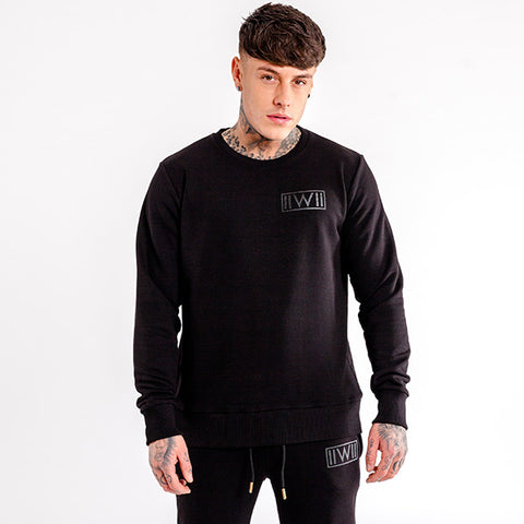 iiwii crew sweatshirt in black