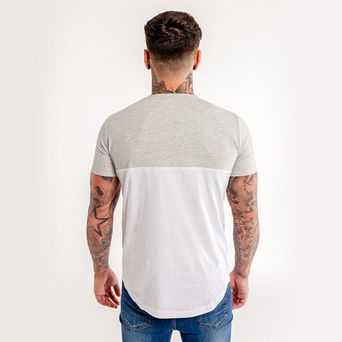 iiwii striped tee grey-white