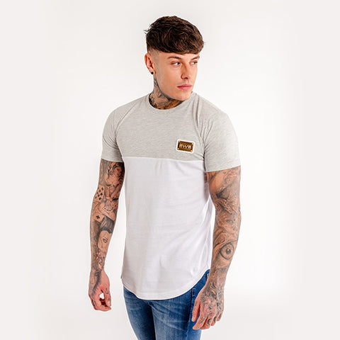 iiwii striped tee in grey-white
