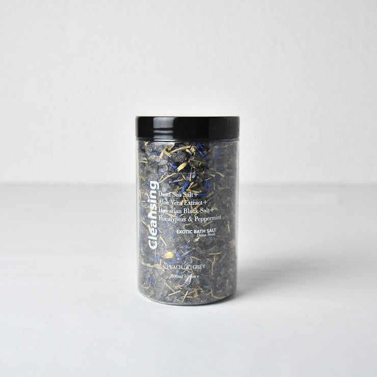 Cleansing Bath Soak with Hawaiian Black Salt - Australian Made