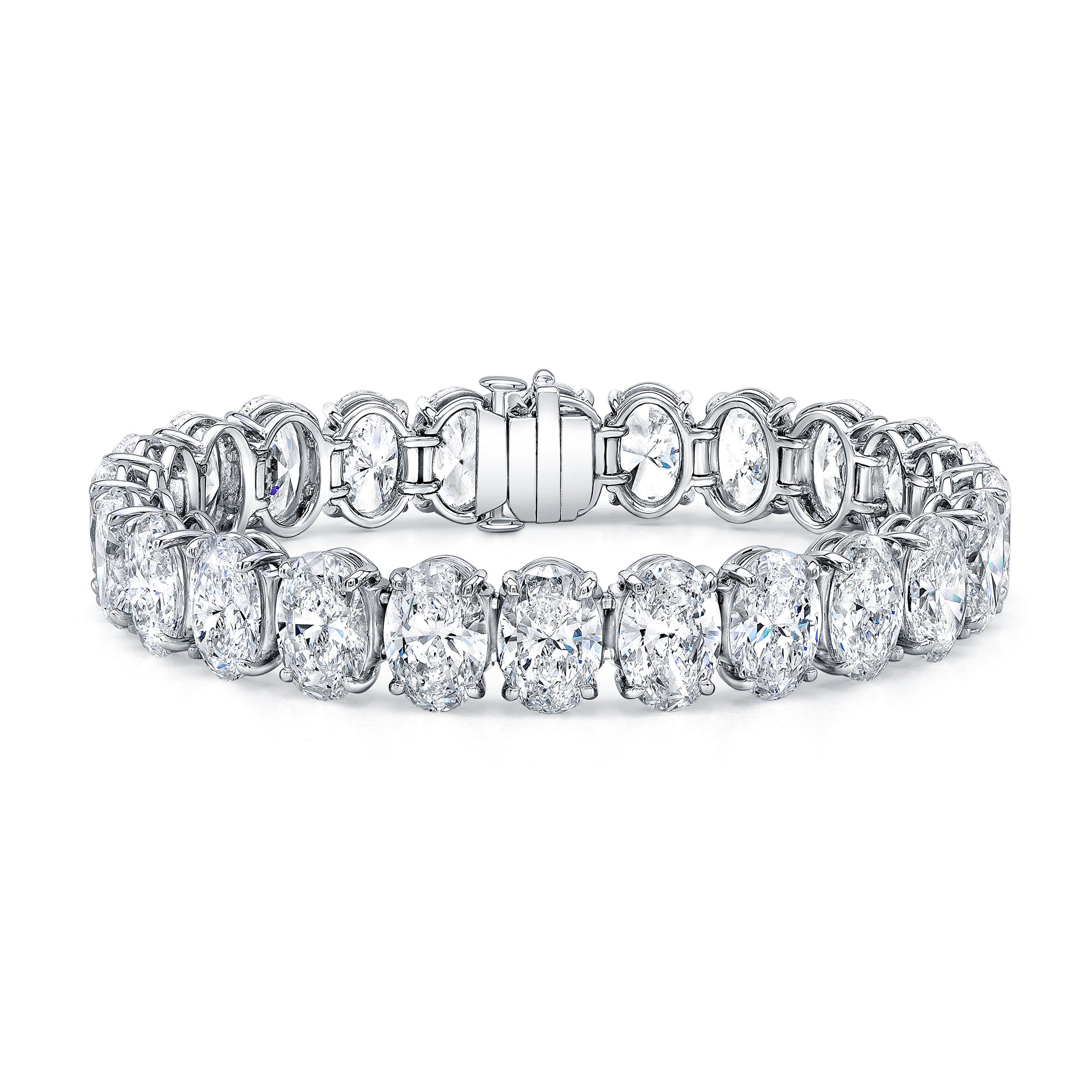 Oval-Cut Diamond Bracelet