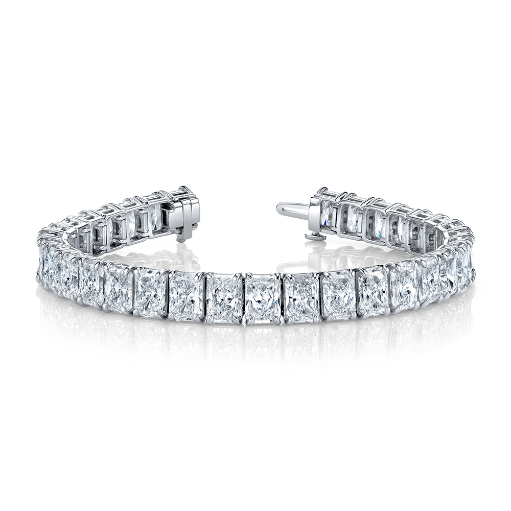 Radiant-Cut Diamond Bracelet