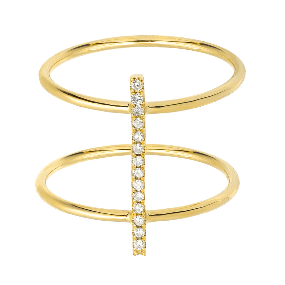 DOUBLE BAND LINE RING