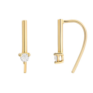 HOOK EARRINGS WITH SOULI BAR