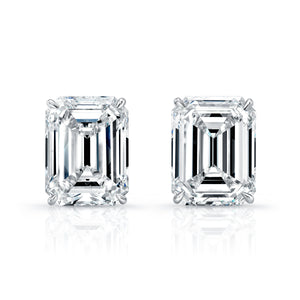 Emerald-Cut Diamond Earrings