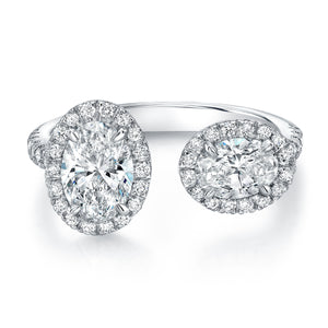 Oval-Cut Diamond Halo Open Band