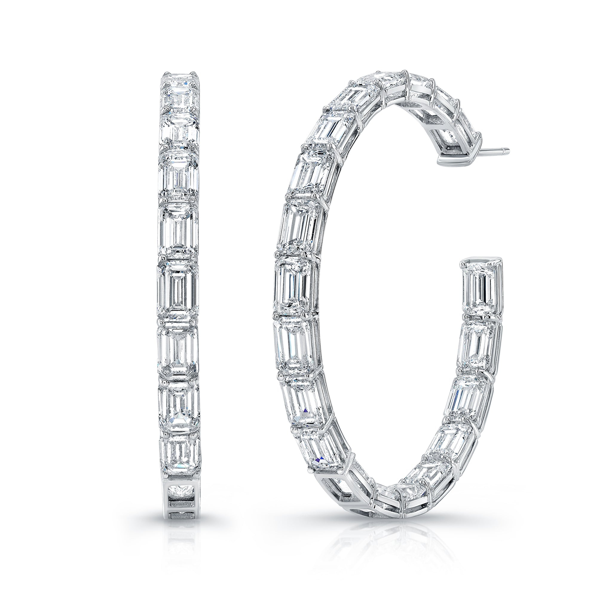 Emerald-Cut Diamond Hoop